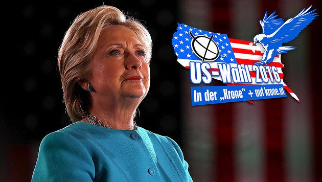 Hillary Clinton kann aufatmen: Das FBI hat die Ermittlungen gegen sie eingestellt. (Bild: APA/AFP/GETTY IMAGES/JUSTIN SULLIVAN, krone.at-Grafik)