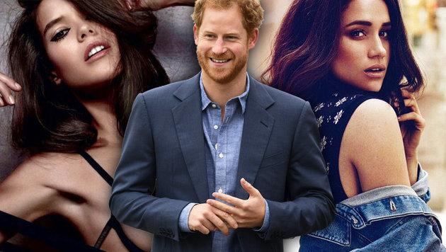 Prinz Harry steht zwischen diesen zwei sexy Frauen (Bild: instagram, APA)
