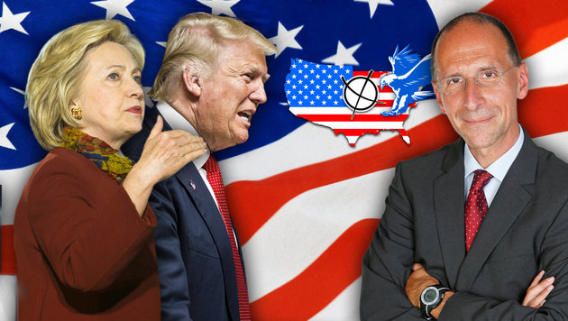 US-Wahl: Was für Clinton und was für Trump spricht (Bild: APA/AFP/Angelo Merendino, APA/AFP/Stephen Maturen, Martin Jöchl)