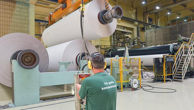 In der Papierfabrik in Steyrermühl müssen 125 Mitarbeiter gehen. (Bild: (c) UPM Kymmene Austria GmbH)
