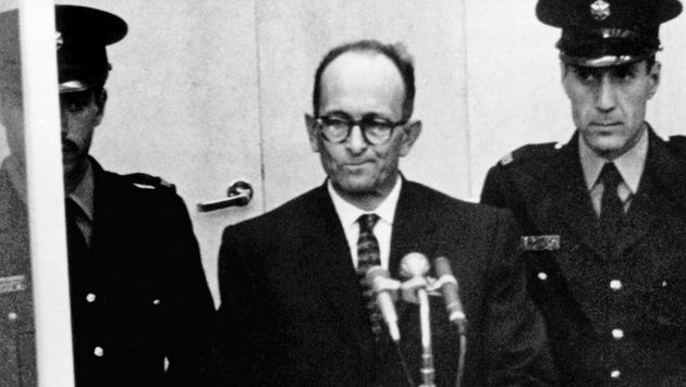 Eichmann während des Prozesses vor dem Jerusalemer Gericht im April 1961 (Bild: APA/Dpa Archiv)