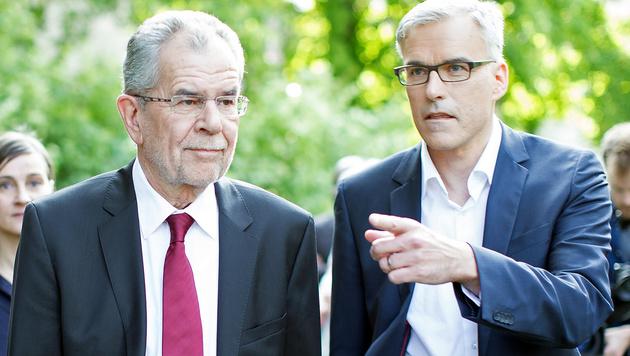 Van der Bellen und sein Wahlkampfleiter Lockl (Bild: APA/GEORG HOCHMUTH)