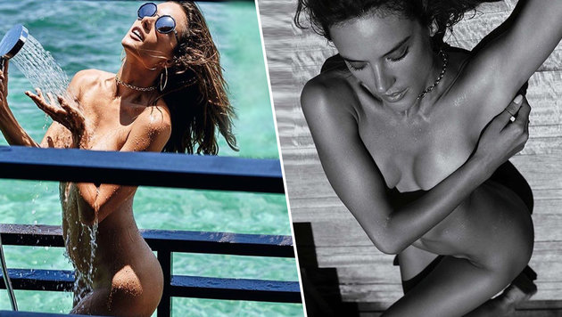 """Alessandra Ambrosio splitternackt für die """"GQ"""" (Bild: instagram.com/alessandraambrosio)"""