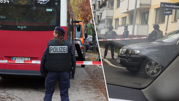 """Anti-Terror-Einsatz in Wien: Iraker angezeigt (Bild: """"Krone""""-Leserreporter, APA/GEORG HOCHMUTH)"""