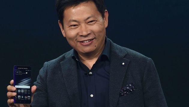 """Huawei: """"In fünf Jahren Apple & Samsung überholt"""" (Bild: AFP)"""