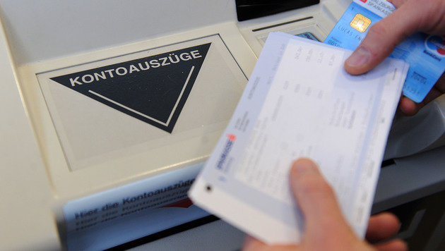 Kontoauszugsdrucker statt Bankomat geknackt (Bild: APA/Barbara Gindl (Symbolbild))