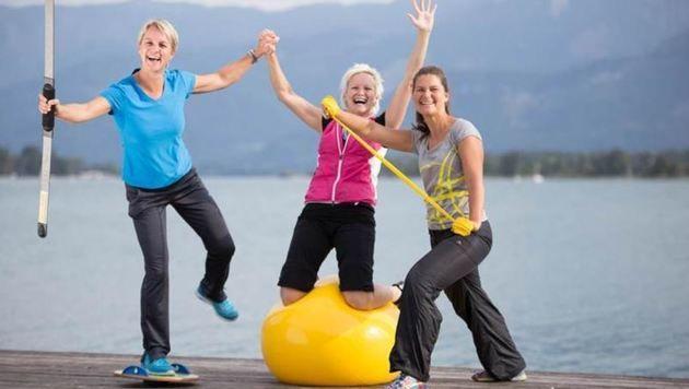 Sportwissenschafterinnen Sonja Thomas, Christiane Meissnitzer und Grete Schiefer. (Bild: Christine Meissnitzer)