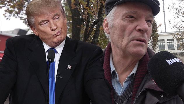 """""""Trump wäre auch nicht schlechter als die anderen"""" (Bild: APA/AFP/GETTY IMAGES/WIN MCNAMEE, krone.tv)"""