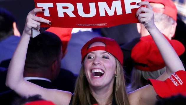 Die Anhänger von Donald Trump haben allen Grund zum Jubeln. (Bild: APA/AFP/GETTY IMAGES/MARK WILSON)