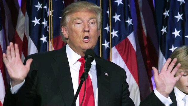 Donald Trump bei seiner Siegesrede (Bild: Ruptly.TV)
