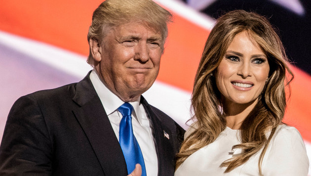 Donald Trump mit Ehefrau Melania (Bild: Walker/face to face)