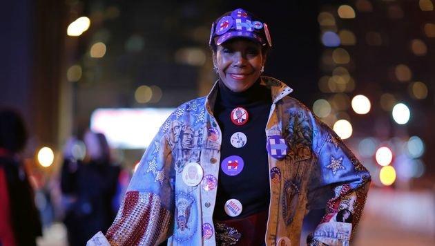 Eine Unterstützerin von Hillary Clinton (Bild: AFP)