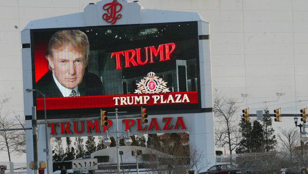 """Werbeschild für das """"Trump Plaza"""" in Atlantic City. (Bild: Viennareort)"""