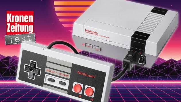 NES Classic Mini entführt ins 8-Bit-Wunderland (Bild: Nintendo, thinkstockphotos.de)