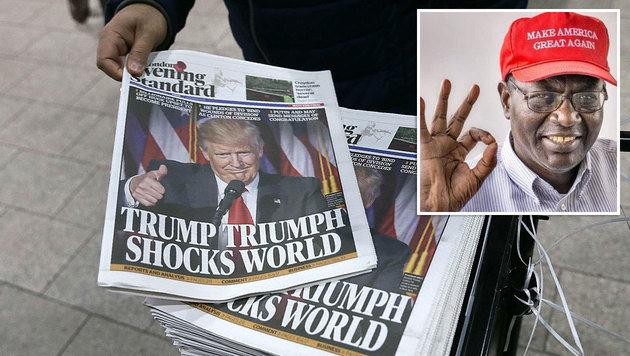 Malik Obama ist ein großer Fan von Donald Trump. (Bild: APA/AFP/DANIEL LEAL-OLIVAS, twitter.com/ObamaMalik)