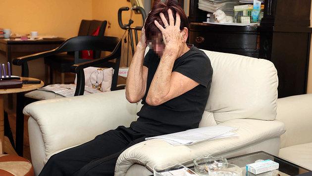 Christine F. vor einem Jahr - heute wird die 72-Jährige künstlich ernährt. Sie hat sich aufgegeben. (Bild: Reinhard Judt)