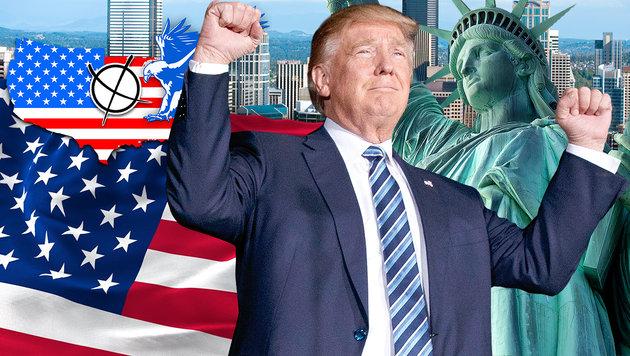 """""""Donald Trump spricht die Gefühle der Mehrheit an"""" (Bild: thinkstockphotos.de, AP)"""