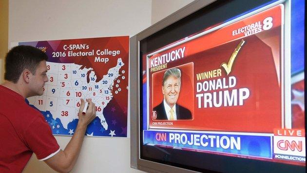 Kentucky ist einer der ersten Bundesstaaten, der einem der beiden Kandidaten zugeschlagen wird. (Bild: AFP)