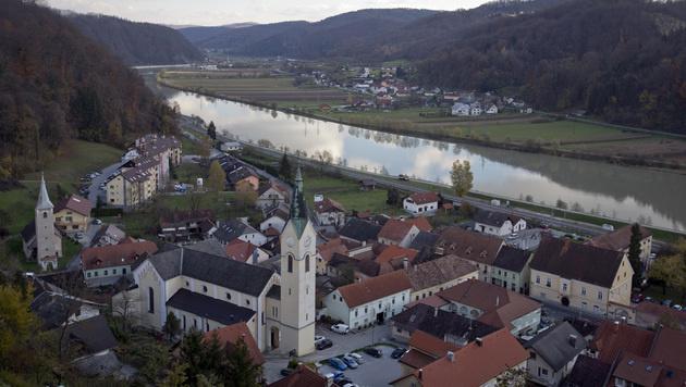 Ein Blick auf die Altstadt von Sevnica (Bild: AP)