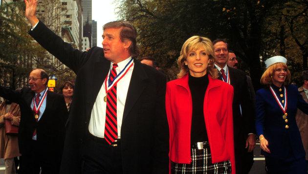 Donald Trump mit Marla Maples (Bild: Viennareport)