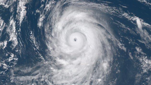 """Der Taifun """"Lionrock"""" über dem Pazifik (2016) (Bild: SSEC/CIMSS, University of Wisconsin-Madison)"""