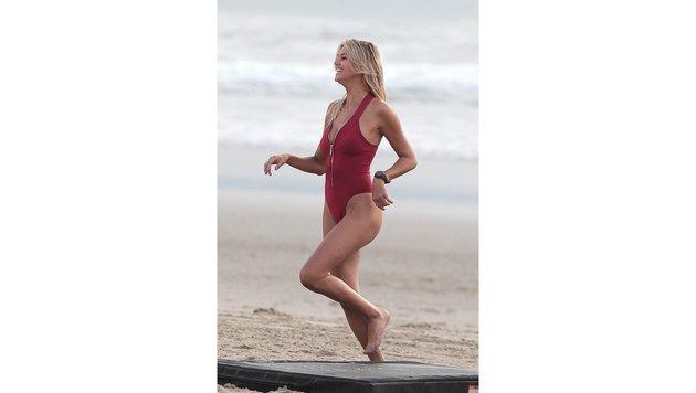 """Kelly Rohrbach am Set von """"Baywatch"""" (Bild: Viennareport)"""