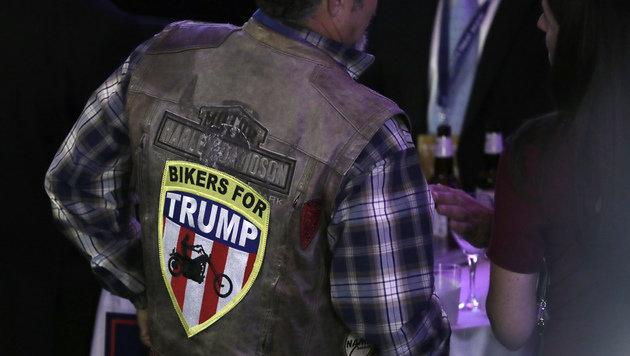 Auf zwei Rädern zu einem Wahlsieg von Donald Trump? (Bild: AP)