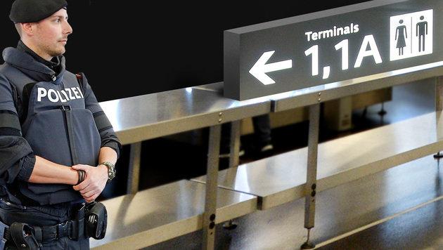 """Flughafen-Drama: """"Kein Verständnis für diese Frau"""" (Bild: Reinhard Holl, krone.at-Grafik)"""