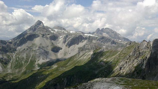 Das Mosermandl (links) und der Faulkogel (rechts) im Salzburger Tauernfenster (Bild: Georg Horner)