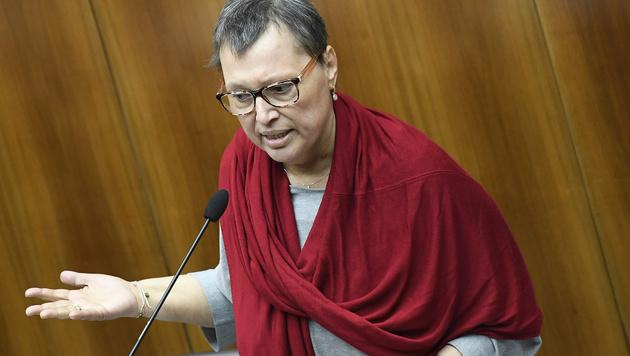 "Oberhauser im Parlament: ""Freue mich wahnsinnig"" (Bild: APA/ROBERT JAEGER)"