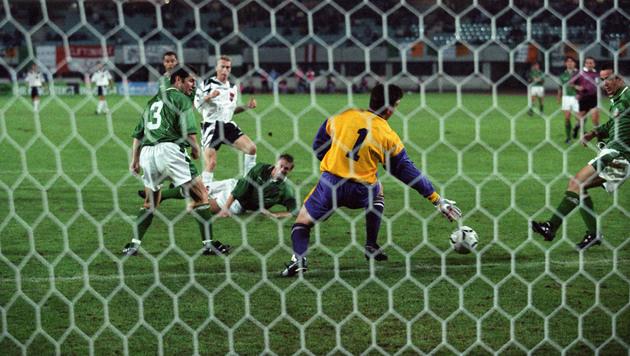Peter Stöger erzielte 1996 beim 3:1-Heimsieg alle drei Tore der österreichischen Nationalmannschaft. (Bild: Franz Votava)
