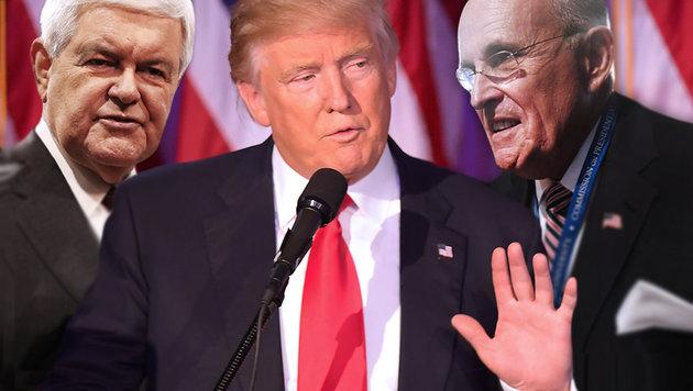 So könnte Donald Trumps Kabinett aussehen (Bild: AP, APA/AFP/JIM WATSON, APA/AFP/Jewel SAMAD)