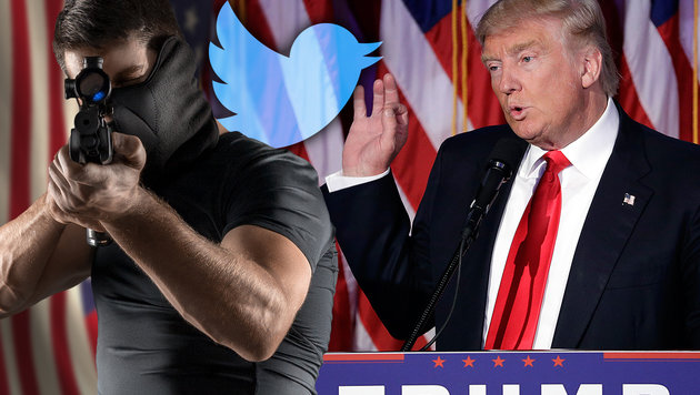 Tausende Morddrohungen gegen Trump auf Twitter (Bild: thinkstockphotos.de, AP)