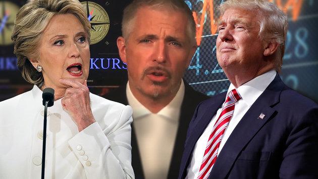 Warum Clinton für uns nicht gut gewesen wäre (Bild: facebook.com/Cashkurs, AP)