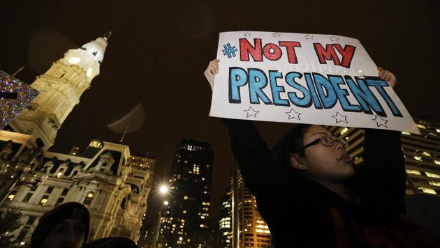 Anti-Trump-Kundgebungen auch in Pennsylvania (Bild: AP)