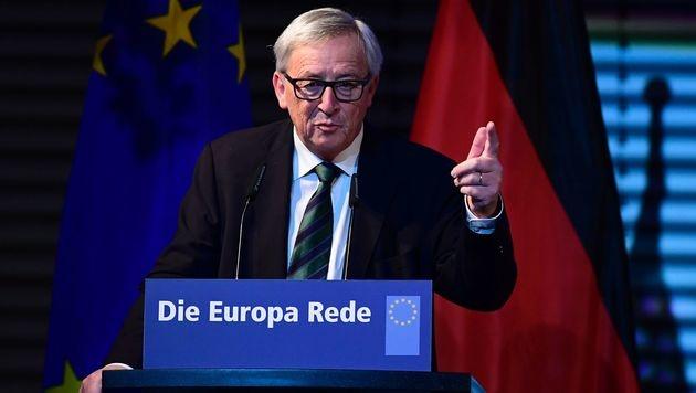 Juncker bei der Europa-Rede in Berlin (Bild: APA/AFP/TOBIAS SCHWARZ)