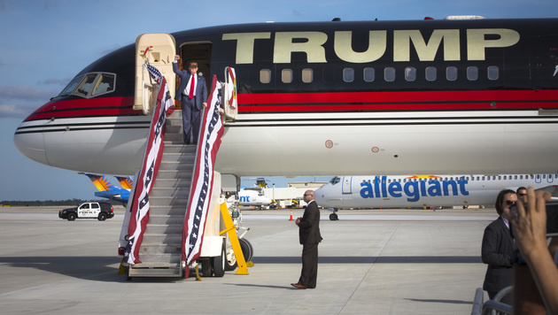 Donald Trumps Privatflieger (Bild: Viennareport)