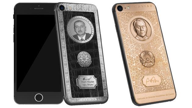 Russen feiern Trump und Putin mit goldenen iPhones (Bild: Caviar Phone)