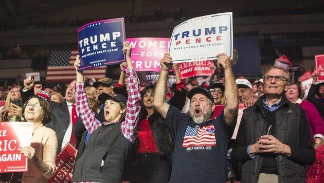 US-Medien müssen jetzt Trumps Amerika entdecken (Bild: APA/AFP/GETTY IMAGES/Scott Eisen)