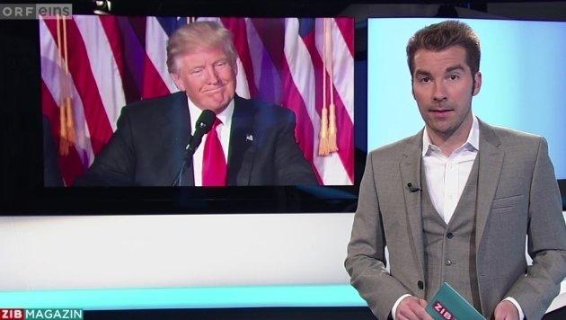 Österreich schaut gespannt auf die USA nach dem Wahlsieg Donald Trumps. (Bild: tvthek.orf.at)