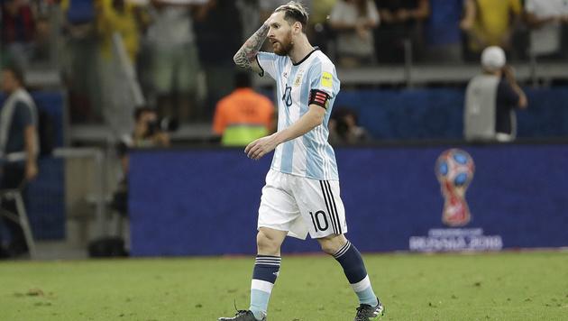 WM-Qualifikation: Bitterer Abend für Lionel Messi (Bild: AP)
