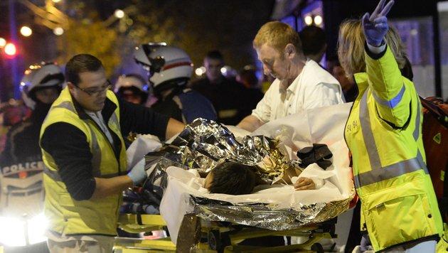 Ein Bild aus der Horrornacht von Paris (Bild: APA/AFP/MIGUEL MEDINA)
