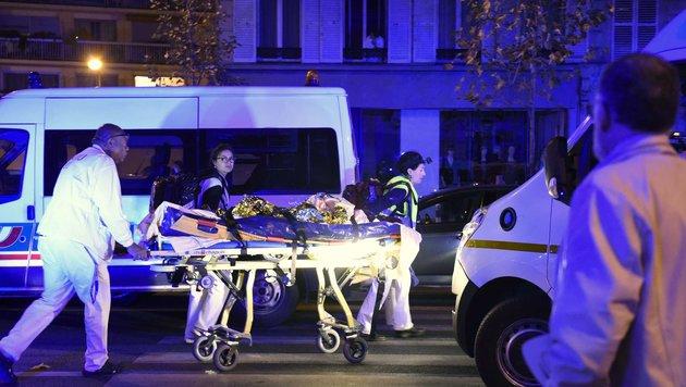 Ein Bild aus der Horrornacht von Paris (Bild: MIGUEL MEDINA)