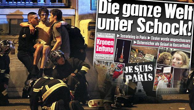 Der sechste Terroranschlag in Paris in drei Jahren (Bild: REUTERS/CHRISTIAN HARTMANN, Kronen Zeitung)