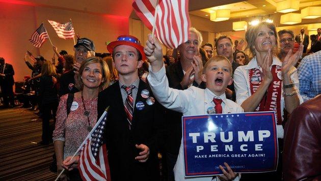 US-Medien müssen jetzt Trumps Amerika entdecken (Bild: APA/AFP/JASON CONNOLLY)