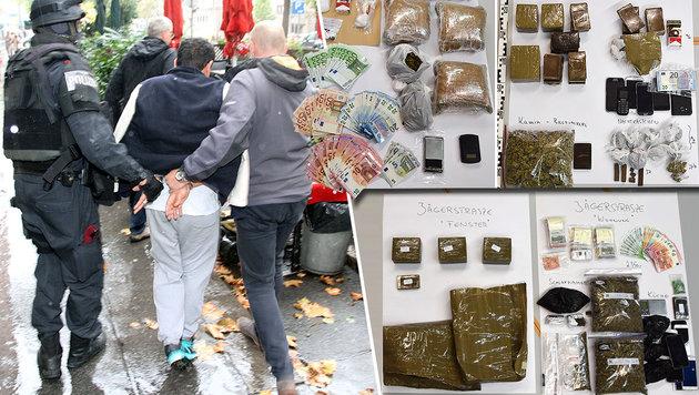 30 Flüchtlinge erbeuten mit Drogenring 300.000 € (Bild: Andi Schiel, APA/LPD STEIERMARK)