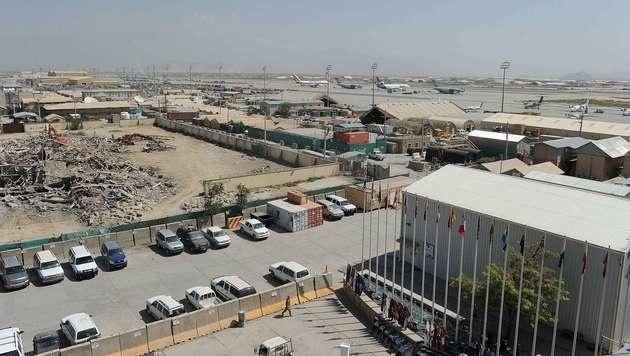 Der US-Stützpunkt in Bagram (Bild: AFP)
