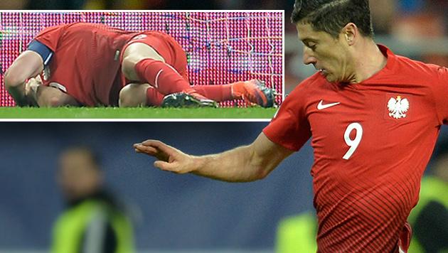 Eklat! Böller-Attacke auf Bayern-Star Lewandowski (Bild: AP)