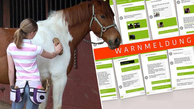 Perverser ködert pferdeverrückte Mädchen im Web (Bild: thinkstockphotos.de, facebook.com/meliphotodesignde)