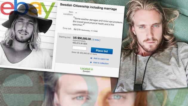 Schwede bietet für 50.000 Dollar Hochzeit an (Bild: ebay, instagram.com)